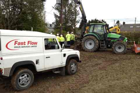 Fast Flow workers performing drainage work for Scottish Power